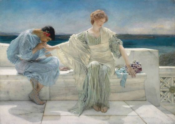 Alma-Tadema, Sir Lawrence: Ask Me No More. Fine Art Print/Poster. Sizes: A4/A3/A2/A1 (003788)